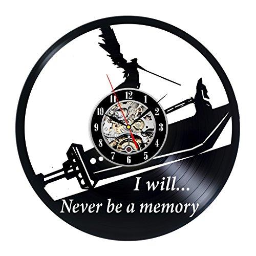 Scratch Record Final Vinyl (Decorative Vinyl Record Final Fantasy Wall Clock for Bedroom)