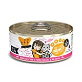 Best Feline Friend (B.F.F.) Grain-Free Cat Food by Weruva, Tuna & Salmon Soulmates, 5.5-Ounce Can (Pack of 24) Larger Image