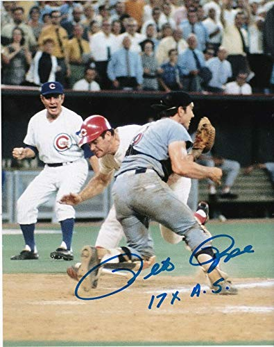 Pete Rose Autographed Photograph - 17 X ALL STAR 8x10 - Autographed MLB Photos