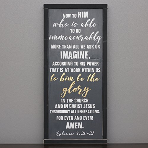 Ephesians 3:20 scripture wall art grey and gold