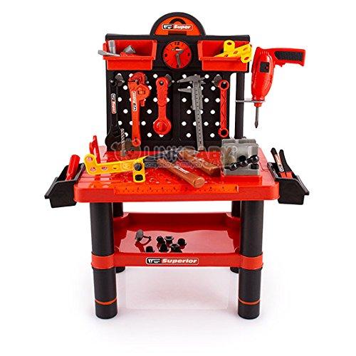 Werkzeug Werkstatt KP2648 Werktisch inkl. Werkzeug Kinder-Werkzeugbank Werkbank