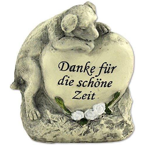 Tiergrabstein Grabschmuck Hund Gedenkstein Grabdeko