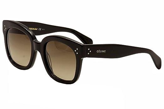 39b77bb6f4 Amazon.com  Celine 41805 S Sunglasses-0807 Black (HA Brown Gradient  Lens)-54mm  Shoes