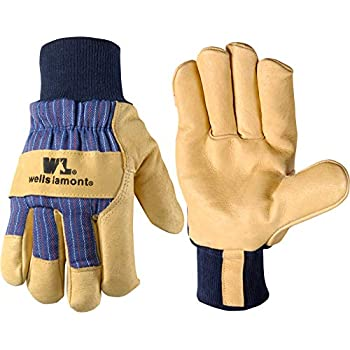 Mens B/&G Heavy Work Insulated Fleece Pile Lined Leather Winter Gloves XXL 2XL