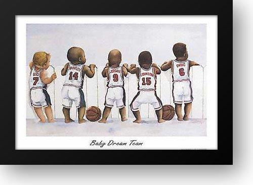 Baby Dream Team 40x28 Framed Art Print by Gatewood, Kenneth