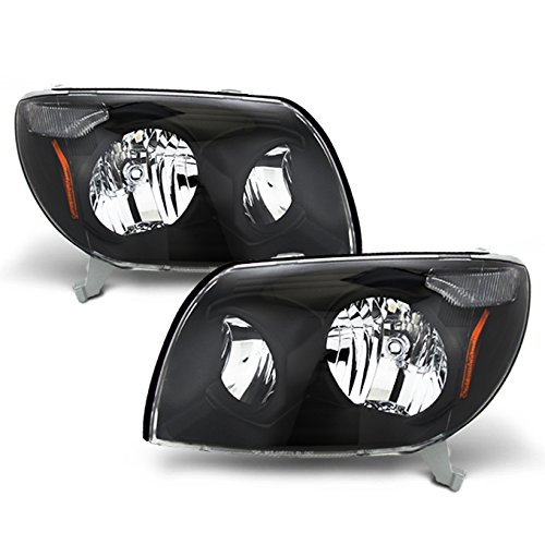 For Toyota 4Runner Sport SUV Replacement Black Headlights Driver/Passenger Head Lamps Pair New 2005 Toyota 4runner Headlight