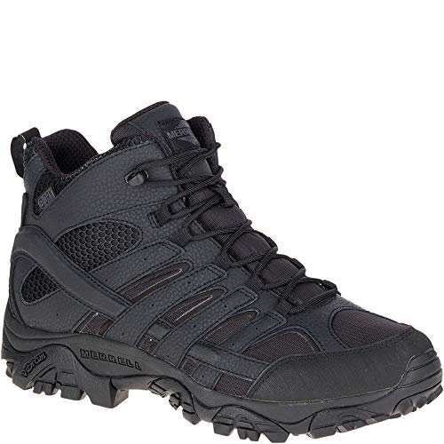 Merrell Moab 2 Mid Tactical Waterproof Boot Wide Men 10.5 Black
