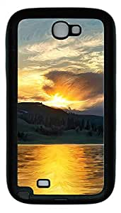 Samsung Note 2 Case Landscapes water view TPU Custom Samsung Note 2 Case Cover Black