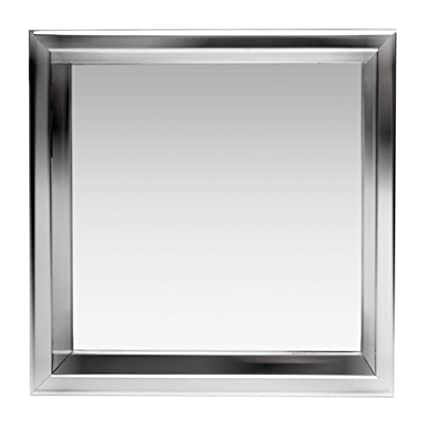 Alfi Brand 12u0026quot; X 12u0026quot; Polished Stainless Steel Finish Square  Single Shelf Bath Shower