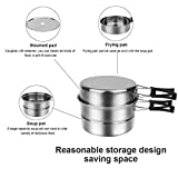 Camping Cookware,Wood Burning Stove,Camping Pots and Pans,Lightweight Compact Design Camping Kits For Survival, Camping and Hunting
