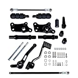 Compatible with '91-'03 XL883 XL1200 Harley Sportster Set Forward Controls FootPegs Levers Linkage Mounting Kit (Black)