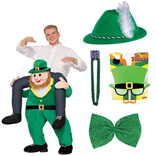 St. Patrick's Day Ride A Leprechaun Adult Costume Deluxe Bundle