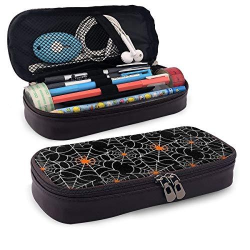 Pencil Case Big Capacity Halloween Spider Web Pencil Bag Makeup Pen Pouch
