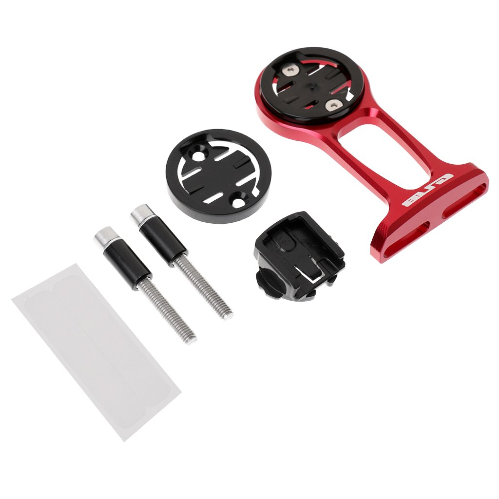 MagiDeal Bike Stem Extension Computer Mount GPS Bracket for Garmin Edge/Cateye GPS - Red
