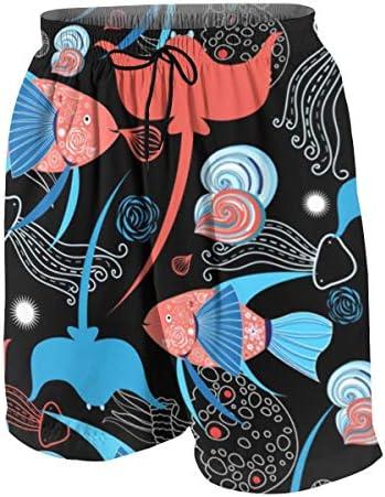 キッズ ビーチパンツ 魚柄 サーフパンツ 海パン 水着 海水パンツ ショートパンツ サーフトランクス スポーツパンツ ジュニア 半ズボン ファッション 人気 おしゃれ 子供 青少年 ボーイズ 水陸両用
