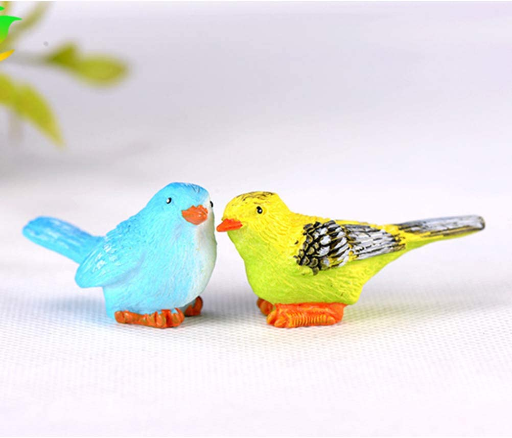 TOYANDONA 5 Pcs Bird Figurines Resin Simulation Mini Animal Bird Model Toys for Home Decor Miniature Fairy Garden Bonsai Ornament Mixed Pattern