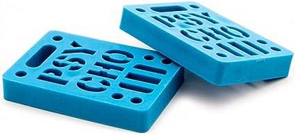 "Vision Psycho Brand 1//8/"" STENCIL LOGO Dual Bolt Pattern Skateboard Risers BLUE"