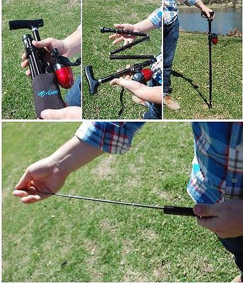 Cast-A-Cane Fishing Pole and Collapsible, Adjustable Walk...