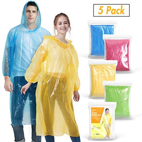 Newbyinn Disposable Rain Ponchos