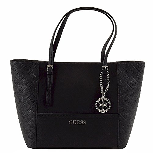 Guess Delaney Medium Embossed Classic Tote Black