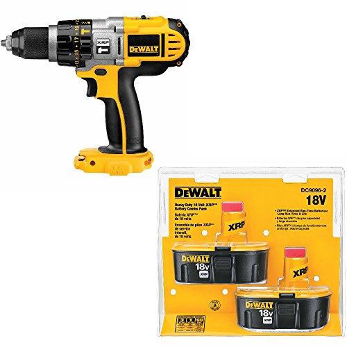 DeWalt DCD950B 18V 1/2 inch Hammerdrill/Drill/Driver w/DC9096-2 18V Battery 2 Pack