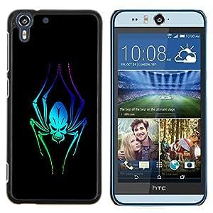 """For HTC Desire Eye ( M910x ) , S-type Extranjero de neón de la araña"""" - Arte & diseño plástico duro Fundas Cover Cubre Hard Case Cover"""