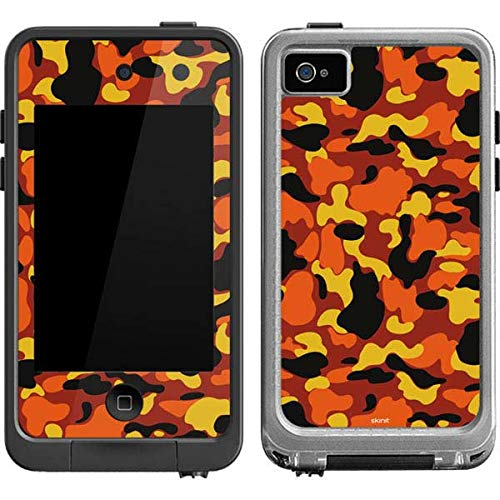 Skinit Orange Camo LifeProof fre iPod Touch 4th Gen Skin for CASE - Originally Designed Skin for Popular Cases Decal - Ultra Thin, Lightweight Vinyl Decal - Camo 4 Case Lifeproof Ipod