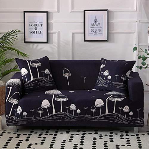 BERTERI Mushroom Printed Sofa Cover Anti-Dirty Couch Slipcover for Living Room L Shape Sofa Protector