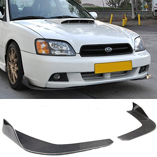 Universal Fit Carbon Fiber CF Winglet Type 3 Front Bumper Lip Splitter Diffuser -