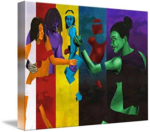 Soca Carnival Costumes (Wall Art Print entitled Jump Up Jump Up by David James   15 x 11)