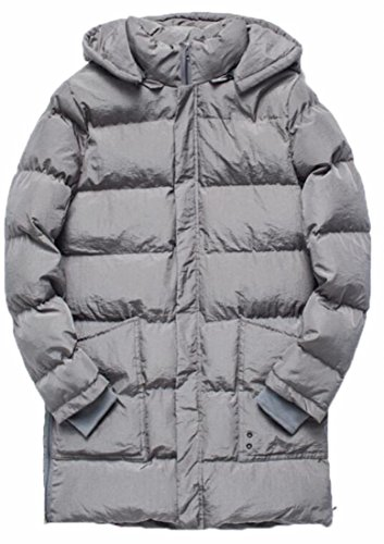 Winter Down Long Grey today Jacket Hooded UK Men's Puffer Thickened S00wOEqA