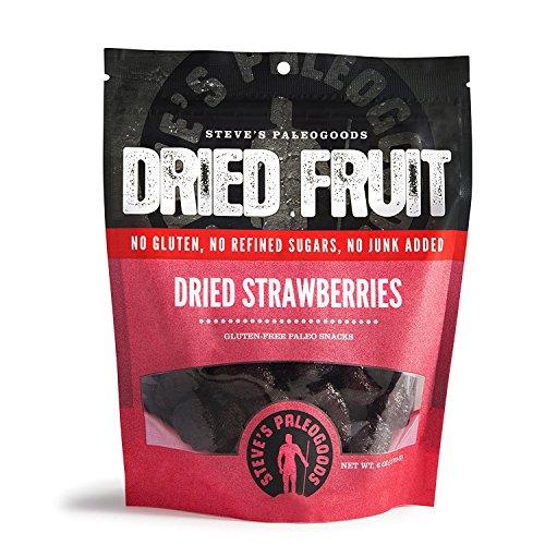 Steve's PaleoGoods, Dried Fruit Strawberries, 6 oz (Pack of 6)