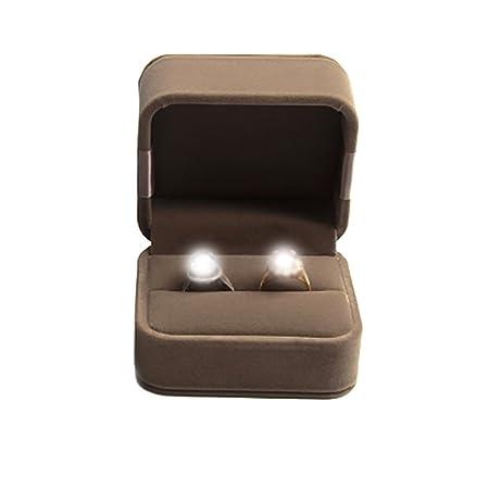 Treestar Elegant Bowknot Rings Storage Box Double Wedding Ring Box