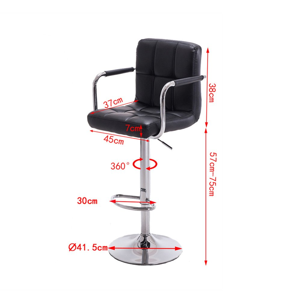 Modern Bar Stool Counter Chair Kitchen Footrest Height