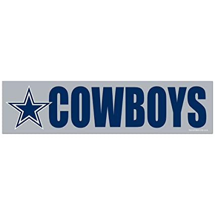 Wincraft nfl dallas cowboys decal bumper sticker team color one size