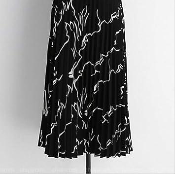 GDNTCJKY Faldas para Mujer Falda Plisada De Gasa Faldas De Talle ...