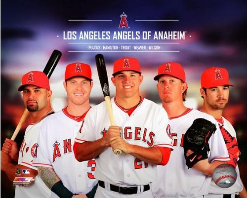 Los Angeles Angels 2014 Team Composite Photo (Size: 8
