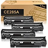 CE285A 85A Black Laserjet Toner Cartridge CMYBabee 4 Pack Replacement Toner Compatible for Canon 125 and HP Laserjet Pro M1132 M1210 M1212NF M1217NFW P1102 P1102W Printer