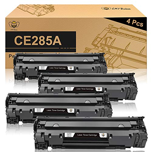 CMYBabee Compatible Toner Cartridges Replacement for HP 85A CE285A Use in HP Laserjet Pro P1005 P1006 P1102w P1102 M1212nf M1217nfw (Black, 4-Pack)