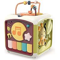 MOTINGDI BIL Intelligent utbildning baby aktivitet kub barn klappa trummis musik piano nyckelbox hand öga koordinering…