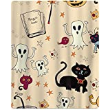 happy halloween teenager beach towels bath sports yoga travel pouch spa absorbent quality towel lightweight compact for pool swim beach camping - Halloween Bath Towels