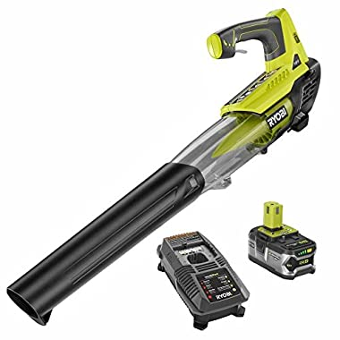 Factory Reconditioned Ryobi ZRP2180 ONE+ 100 mph 280 CFM 18-Volt Lithium-Ion Cordless Jet Fan Blower Kit with Battery and Charger