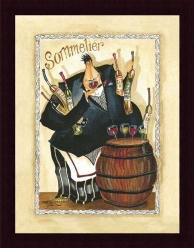 Barewalls Wine and Roses I by Jennifer Garant Custom Wood Framed Art Print by -