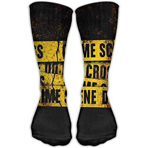 Personalized Grunge Wall Crime Scene Lines Footage Unisex Short Socks Casual Athletic Outdoor Socks Novelty Socks 30cm ()