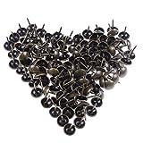 JiaUfmi 100 Pcs Upholstery Tacks 11 by 17 mm Antique Brass Tacks Bronze Nail Pins Furniture Thumb Tack Pins