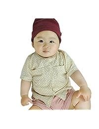 Iceybaby Newborn Baby Boys Pure Cotton Fabric Short-sleeved Shirts Dot