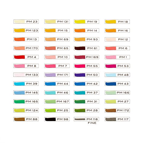Prismacolor 3611 Premier Double-Ended Art Markers, Fine and Chisel Tip, 48-Count