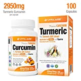 Vita-Age 50X Stronger 2950mg Turmeric with Black Pepper 2,000% Bioavailable, 100 Capsules, Over 3 Months' Supply Review