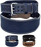 RDX Weight Lifting Belt Cow Hide Leather Double Prong 4