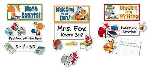 Set Signs Bulletin Board (Playful Foxes Curriculum Signs Bulletin Board Set)